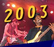 under the bridge Festival 2003